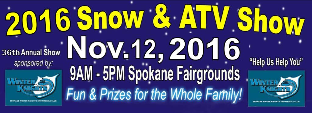 2016 Spokane Winter Knights Snowmobile Club Snow and ATV Show