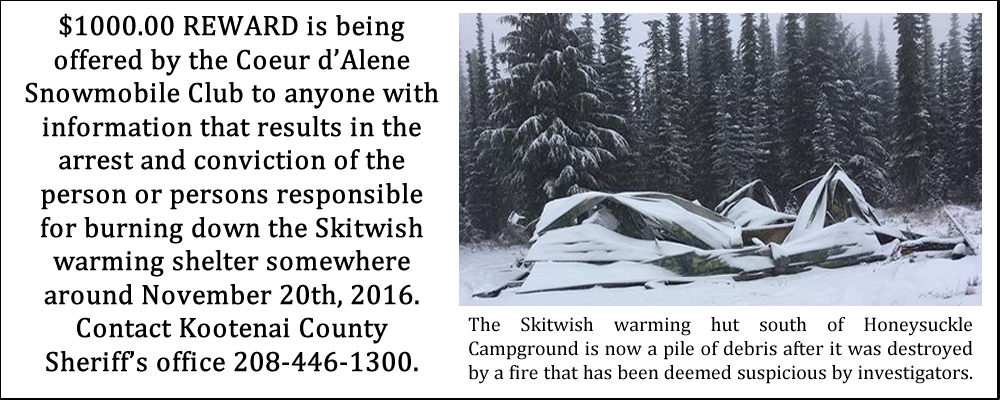 Skitwish Warming Hut Destroyed