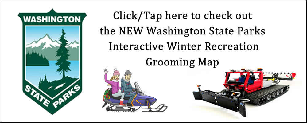 Spokane Winter Knights Snowmobile Club WA State Parks Grooming Map Link